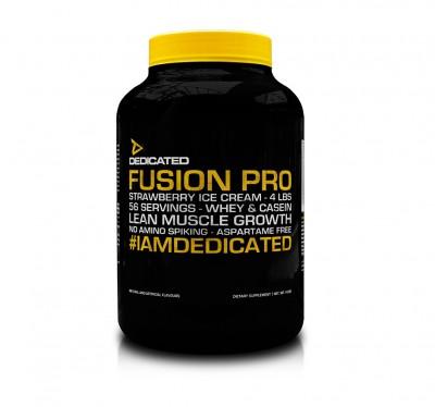 Dedicated Fusion Pro V2 Whey/Casein 50/50 1,814 Kg Dose 4 LBS, Mega Geschmack!
