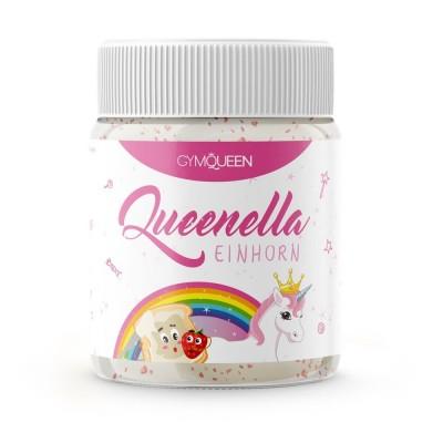 Gymqueen Queenella Einhorn White Protein Spread mit Erdbeerstückchen