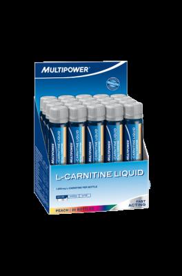 Multipower L-Carnitin Liquid 20x25ml Ampullen 1800mg! Pfirsich MHD 05/2019!