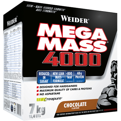 Weider Mega Mass 4000 Karton 7000g Pulver, NEUE BESSERE REZEPTUR NUR 10% ZUCKER!