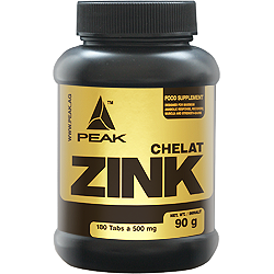 Peak Zink Chelate Dose 180 Tabletten