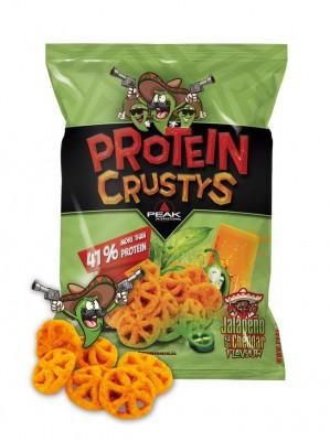 PEAK Protein Crustys 41% Protein 40g Beutel Jalapeno und Cheddar NEU!