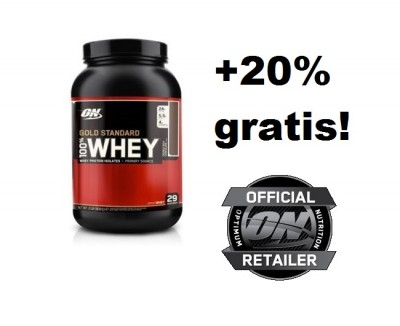 Optimum Nutrition Gold Standard 100% Whey Dose 908g + 20% GRATIS 1,09kg!!