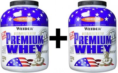 Weider Premium Whey Dose 2x2300g! Pulver Zimtschnecke
